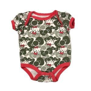 Hello Kitty Short Sleeve Bodysuit 0-3mo